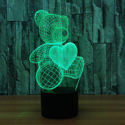 YEDUO LED USB Colorful Night Lamp 3D Illusion Lamp For Kids Toy Christmas Gifts Night Lighting