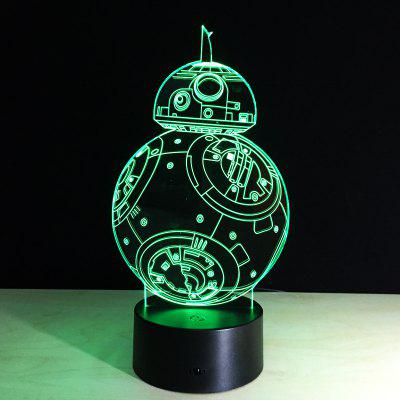 YEDUO 7 color Holiday Atmosphere Decorative Kids gift Robot 3D Ilusion Lamp Light Lighting Gadget LED Night Light