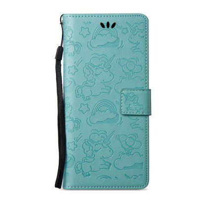 Case Cover for Samsung Galaxy Note 8 Double Sides Embossed Clouds Leather Shell with Wallet