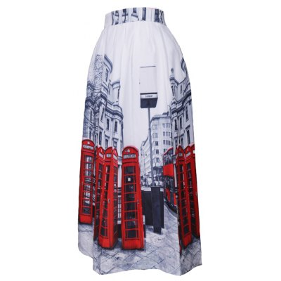 Women Elegant England Style  Work   Fashion Women Printed Straight High Waist Casual Skirt