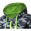 Men Simply Pocket Camouflage Hoodie - GRAY