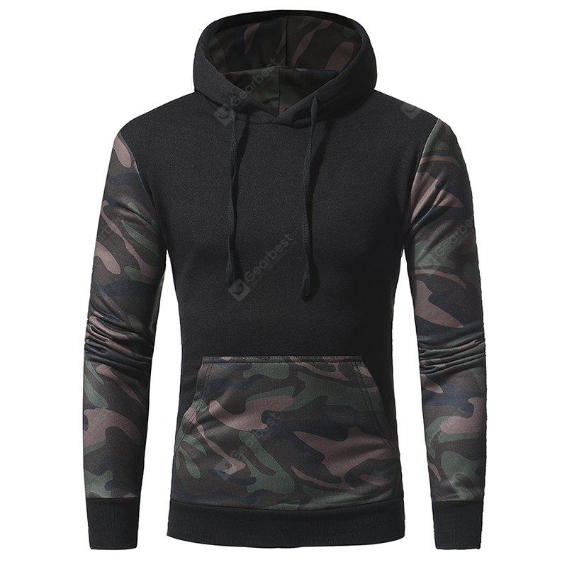 Men's camouflage - colored casual hooded hoodie