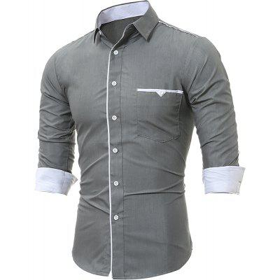 MenS Cloth Pocket Embroidered Long Sleeve ShirtsMens Shirts<br>MenS Cloth Pocket Embroidered Long Sleeve Shirts<br><br>Collar: Turn-down Collar<br>Material: Cotton, Cotton Blends<br>Package Contents: 1xShirts<br>Shirts Type: Casual Shirts<br>Sleeve Length: Full<br>Weight: 0.1800kg