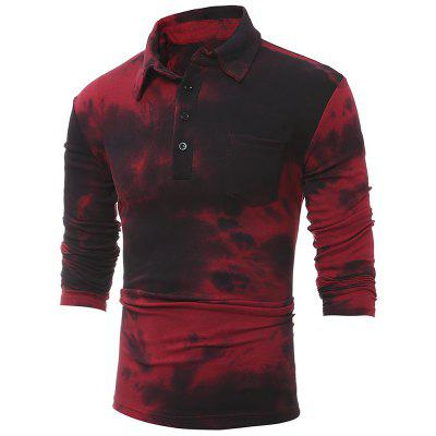 Men tie dye prints for casual lapel t-shirtsMens T-shirts<br>Men tie dye prints for casual lapel t-shirts<br><br>Collar: Turn-down Collar<br>Material: Cotton<br>Package Contents: 1xT-shirts<br>Pattern Type: Print<br>Sleeve Length: Full<br>Style: Novelty<br>Weight: 0.2100kg