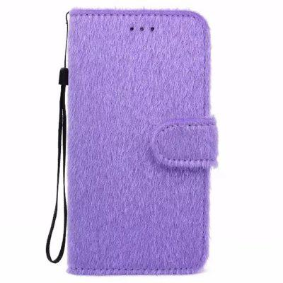 Case For iPhone X Horse Hair Card Holder Wallet with Stand Flip Full Body Solid Color Hard Genuine Leather