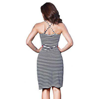 Striped Sexy  Suspender  Back Dress for WomenMini Dresses<br>Striped Sexy  Suspender  Back Dress for Women<br><br>Dresses Length: Knee-Length<br>Elasticity: Micro-elastic<br>Fabric Type: Jersey<br>Material: Spandex, Cotton<br>Neckline: Spaghetti Strap<br>Package Contents: 1 x dress<br>Pattern Type: Others<br>Season: Summer<br>Silhouette: Straight<br>Sleeve Length: Sleeveless<br>Style: Sexy &amp; Club<br>Weight: 0.1850kg<br>With Belt: No