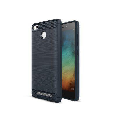 Luxury Carbon Fiber Anti Drop TPU Soft Cover Case for Xiaomi Redmi 3 Pro / 3S