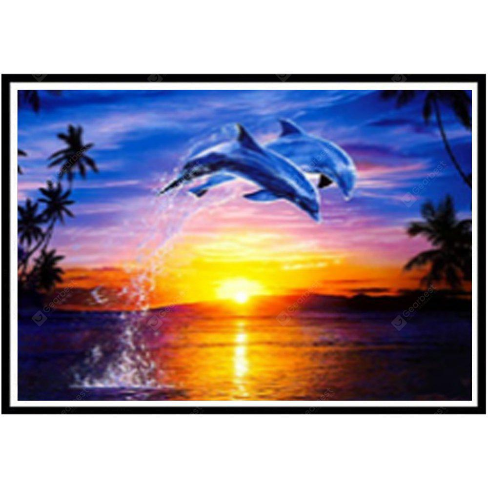 NAIYUE J632 Delfino Animal Print Draw 5D Diamond Painting Diamond Embroidery