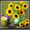 NAIYUE 9560 Sunflower Print Draw 5D Diamond Diamond Diamond Embroidery - GIALLO