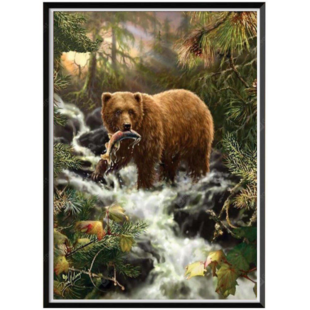 NAIYUE X034 Big Bear Animal Print Draw 5D Diamante Pittura Diamante Ricamo