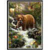 NAIYUE X034 Big Bear Animal Print Draw 5D Diamante Pittura Diamante Ricamo - COLORI MISTI