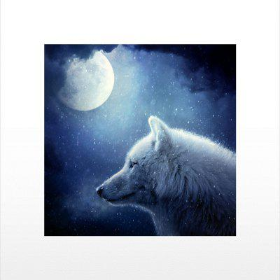 Naiyue S009 White Wolf Under The Moon Print Draw Diamond Drawing