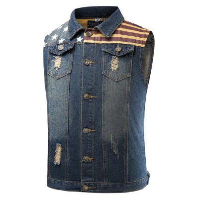 Vogue Pentagram Male Cowboy Vest and Sleeveless Jacket Male