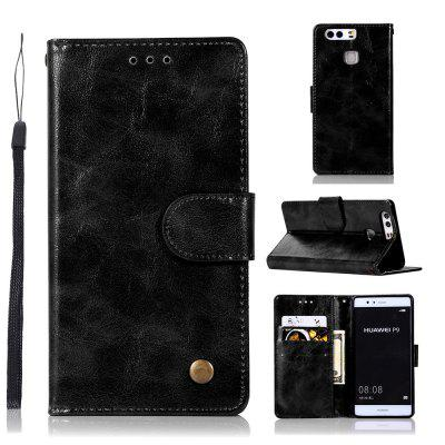 Custodia rigida in pelle PU Custodia a portafoglio per Huawei P9 Smart Cover Esaurita Vintage Fashion Phone Bag con supporto