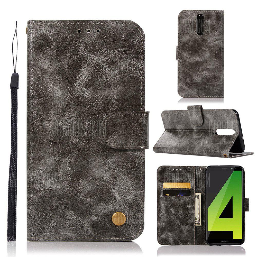 Flip Leather Case PU Wallet Case For Huawei Nova 2I / Huawei Mate 10 Lite Smart Cover Retro Fashion Phone Bag with Stand
