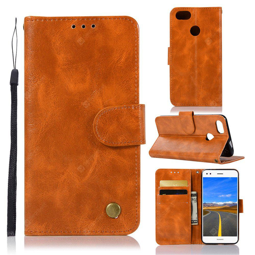 Flip Leather Case PU Wallet Case For Huawei Y6 Pro 2017 / Huawei P9 Lite Mini / Huawei Enjoy 7 Phone Bag with Stand