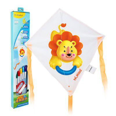DIY Kite Hand Panted Cartoon Animal Kite