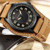 Army Military Quartz Mens Watches Luxury Leather Men Watch Casual Sport Male Clock Watch Relogio Masculino - DEEP BROWN