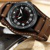 Army Military Quartz Mens Watches Luxury Leather Men Watch Casual Sport Male Clock Watch Relogio Masculino - DARK COFFEE