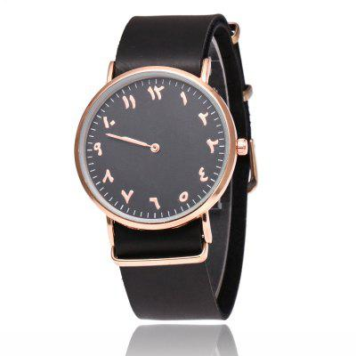 Geneva Fashion Personality Number Leather Ultrathin Quartz Watch