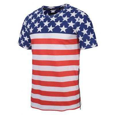 Summer New Creative Star Stripe 3D Printed Fashion T-ShirtMens T-shirts<br>Summer New Creative Star Stripe 3D Printed Fashion T-Shirt<br><br>Collar: Round Neck<br>Material: Polyester<br>Package Contents: 1xT-shirt<br>Pattern Type: Striped<br>Sleeve Length: Short<br>Style: Fashion<br>Weight: 0.2000kg