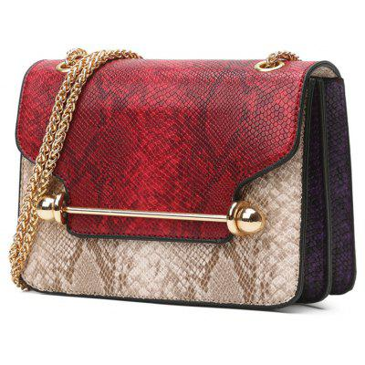 Hot Style Classic Fashion Trend Snake-Grain Chain Barbell Single-Shoulder Bag Female BagCrossbody Bags<br>Hot Style Classic Fashion Trend Snake-Grain Chain Barbell Single-Shoulder Bag Female Bag<br><br>Closure Type: Cover<br>Gender: For Women<br>Handbag Type: Crossbody bag<br>Main Material: PU<br>Occasion: Versatile<br>Package Contents: 1xbag<br>Package size (L x W x H): 17.00 x 8.00 x 13.00 cm / 6.69 x 3.15 x 5.12 inches<br>Package weight: 0.4500 kg<br>Pattern Type: Animal Prints<br>Style: Fashion