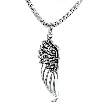 Stainless steel angel wings pendant mens necklace 434 free stainless steel angel wings pendant mens necklace aloadofball Choice Image