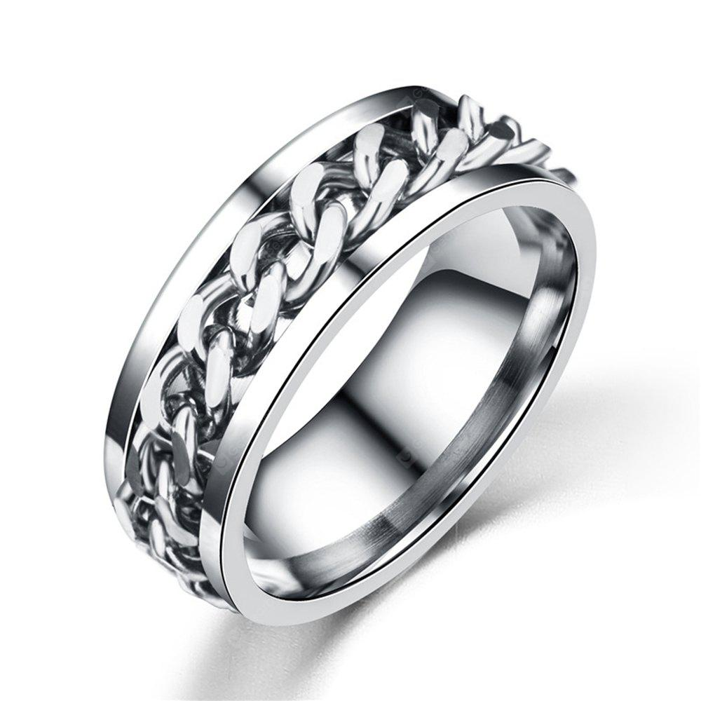 road round products man anchor to silver ring rings