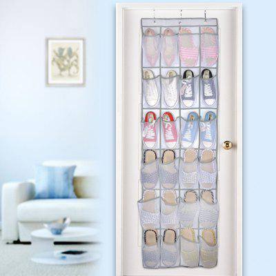 24 Grid Non-woven Door Hanging Shoes Storage Bag