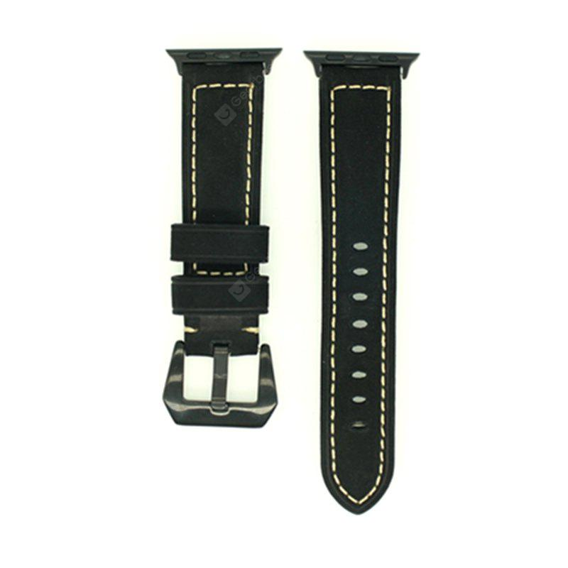 Retro Vintage Genuine Leather Watch Strap Replacement for Apple Watch Series 3 / 2 / 1 38MM