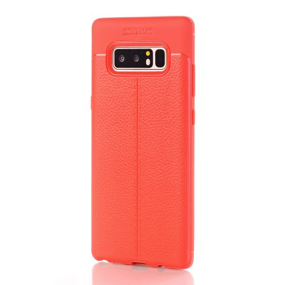 Case for Samsung Galaxy Note 8 Soft TPU Litchi Skin Texture Back Cover