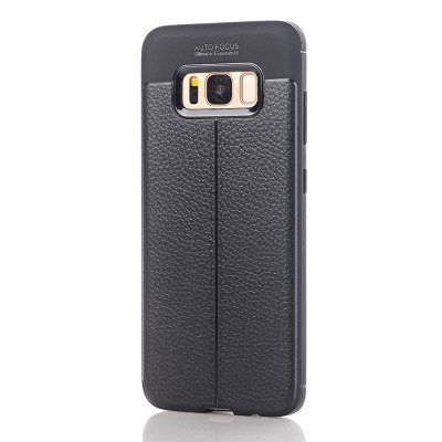 Case for Samsung Galaxy S8 Litchi Texture Soft TPU Protective Back Cover