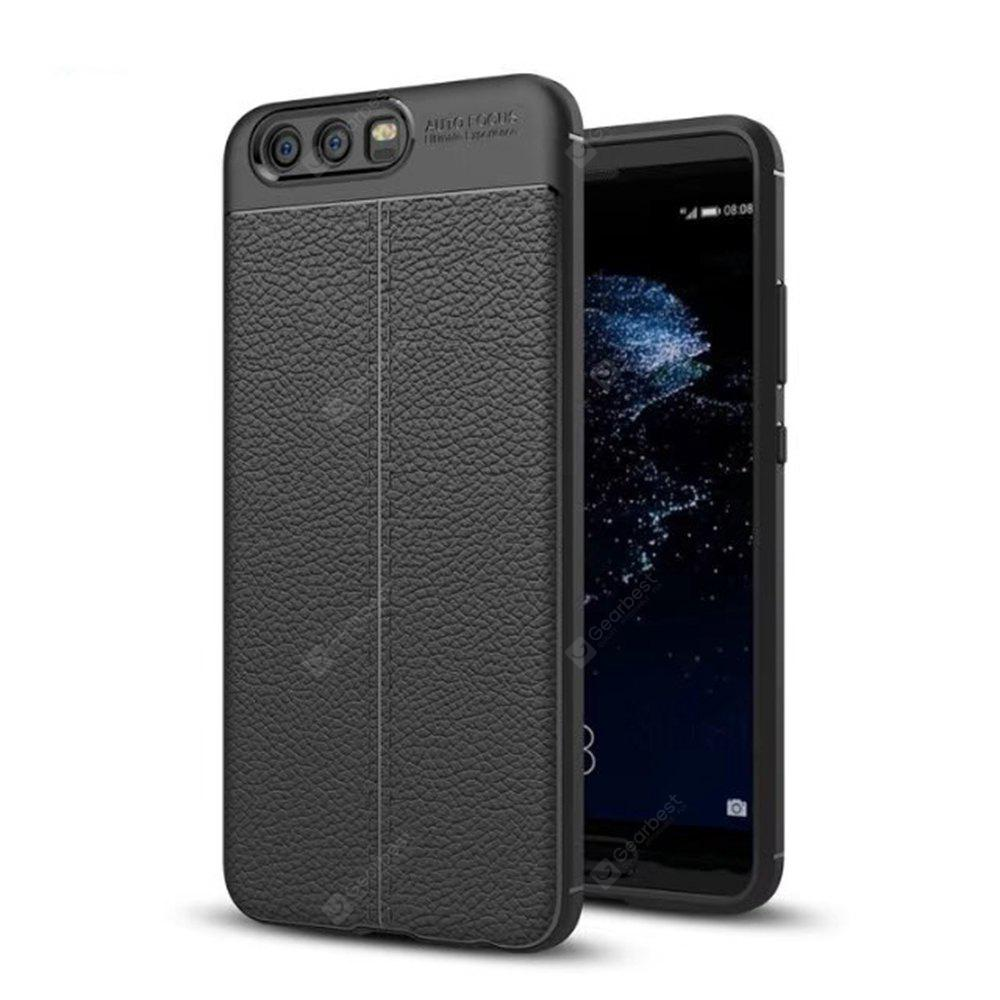 Case for Huawei P10 Plus Soft TPU Litchi Texture Protective Back Cover
