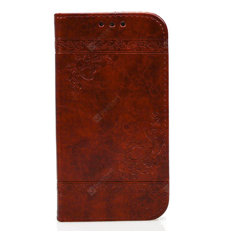 Cover Case for Huawei Mate 9 Pure Color Embossing Leather
