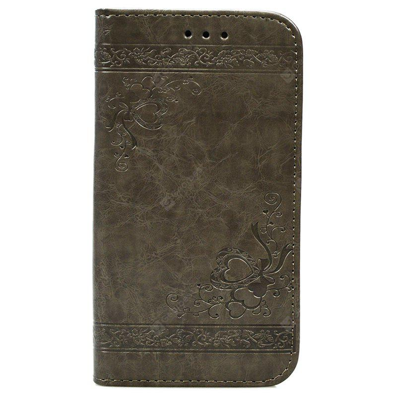 Cover Case for Huawei P9 Lite Pure Color Embossing Leather