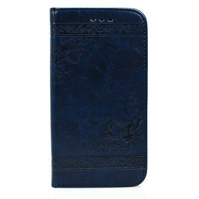 Cover Case for Huawei P10 Pure Color Embossing Leather