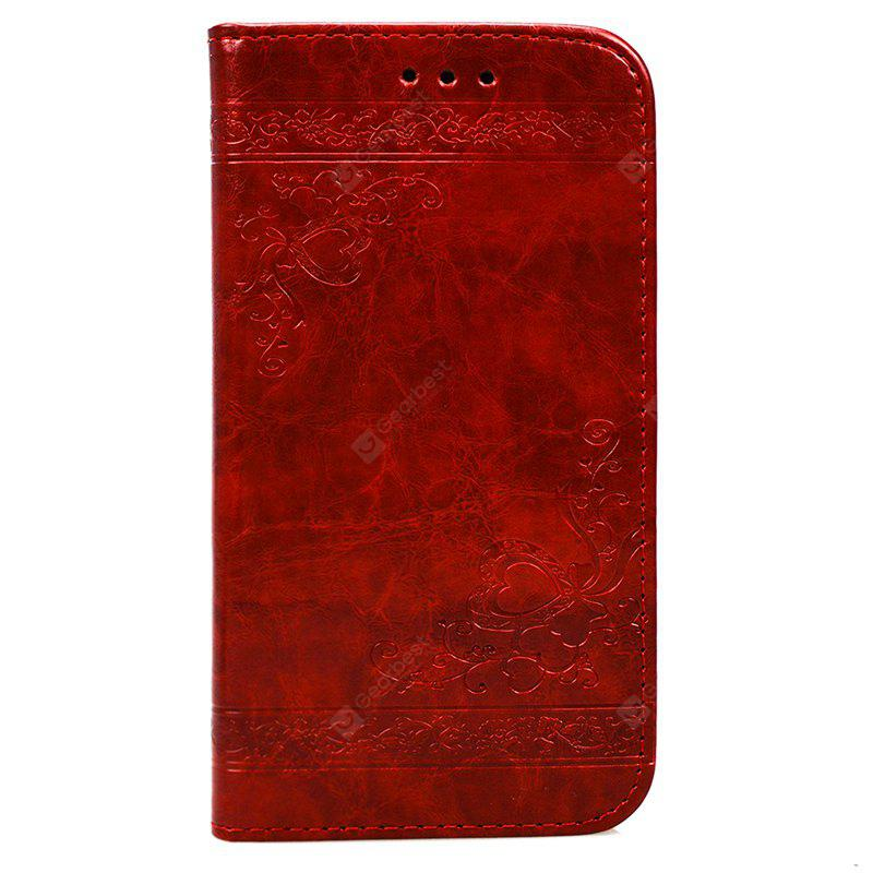 Cover Case for Huawei P10 Lite Pure Color Embossing Leather