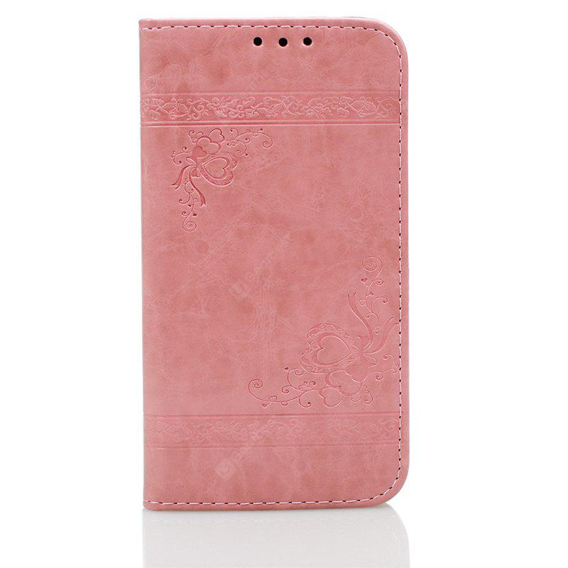 Cover Case for iPhone X Pure Color Embossing Leather