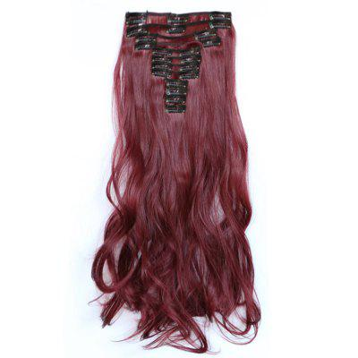 12 pcs/Set Women Fashion Hair Accessories Long Wavy Extension Synthetic Curls Wigs