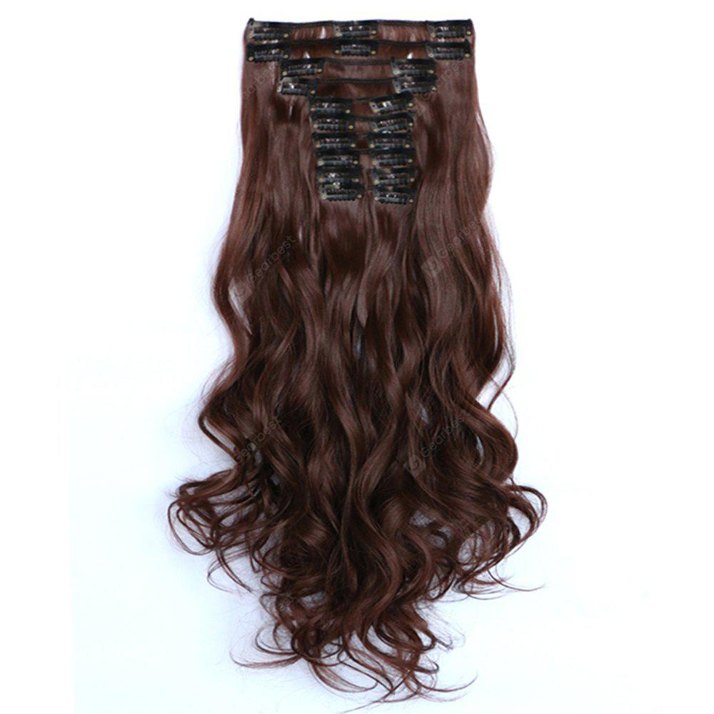 12 pcs/Set New Fashion Women Hair Accessories Long Wavy Extension Synthetic Curls Hair Wigs