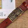 Women Leather Belt with Full Leather Belt and Vintage  The Leather Belt - RED