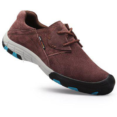 Men Casual Trend for Fashion Flat Lace Up Outdoor Leather Shoes