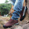Men Casual Trend for Fashion Flat Lace Up Outdoor Leather Shoes - WINE RED