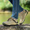 Men Casual Trend for Fashion Lace Up Flat Outdoor Leather Shoes - GRAY