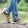 Men Casual Trend for Fashion Lace Up Flat Leather Outdoor Shoes - GRAY