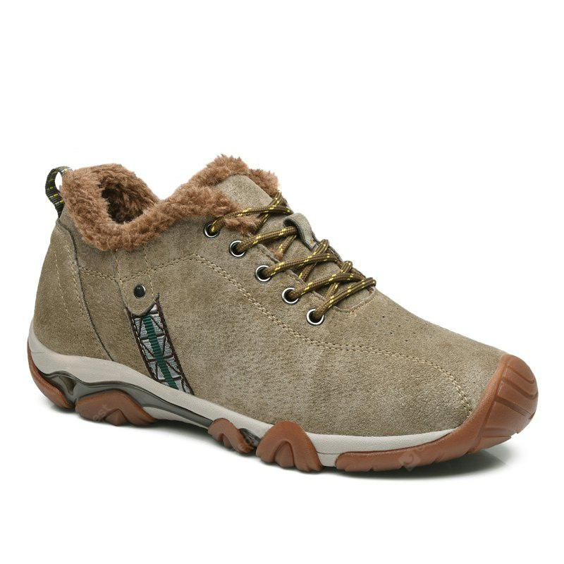 Men Casual Trend for Fashion Lace Up Outdoor Flat Leather Type Suede Shoes