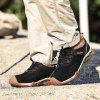 Men Casual Trend for Fashion Lace Up Outdoor Flat Type Leather Suede Shoes - BLACK