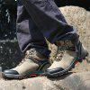 Men Casual Trend for Fashion Fur Lace Up Outdoor Flat Type Ankle Suede Leather Boots - GRAY