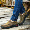 Men Casual Trend for Fashion Outdoor Hiking Flat Loafers Leather Shoes - KHAKI