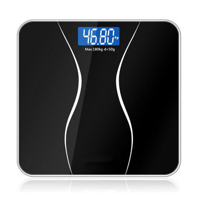 Bathroom Body Scales Glass Smart Household Electronic Digital Floor Weight Balance Bariatric LCD Display 180KG / 50G
